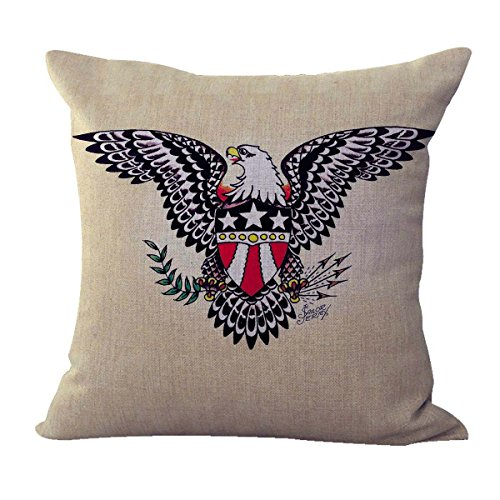 or Jerry Tattoo American Eagle Cushion Cover Decorative Pillow Covers for Couch ()