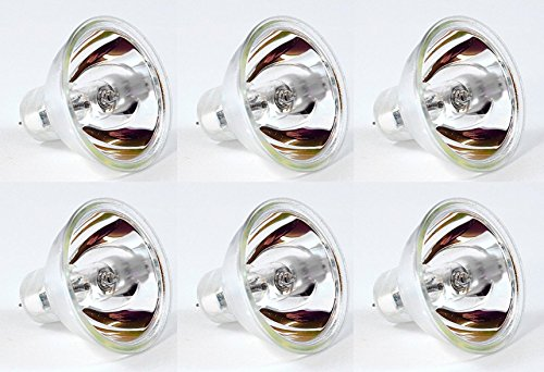 EiKO EIKOEKE.X6 Model EKE Halogen Dichroic Reflector Bulb (Pack of 6), 21 Volts, 150 Watts, CC-6 Filament, 1.75