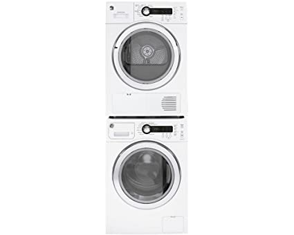 GE White Compact Laundry Pair with WCVH4800KWW 24