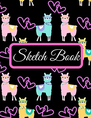 Sketch Book: A Large Llama Pattern Cute 500 Pages Personalized Sketchbook Paper Blank Notebook Journal For Drawing Sketching Painting Doodling Writing ... For Adults Boys Girls Kids Teens Friends ()