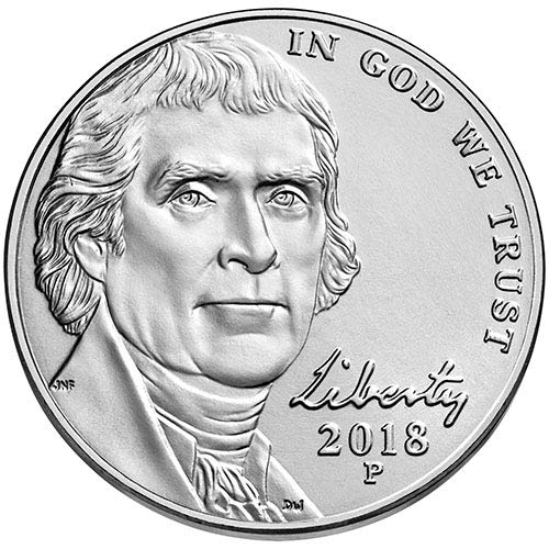 2018 P & D BU Jefferson Nickel Choice Uncirculated US Mint 2 Coin Set