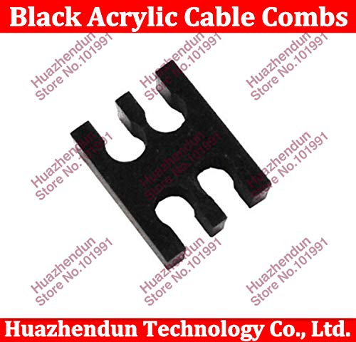 Cable Length: Comb, Color: 5PCS Computer Cables Black Acrylic Cable Combs for 3mm Cables 4Cables Comb Yoton
