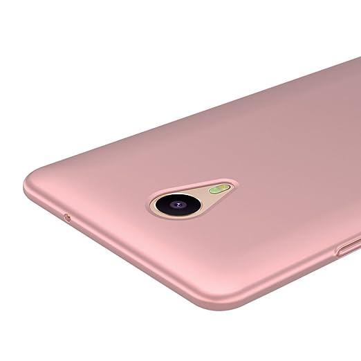 5 opinioni per Oro Rosa Ultra Sottile Custodia Cover Case + Pellicola Protettiva Per Meizu m3