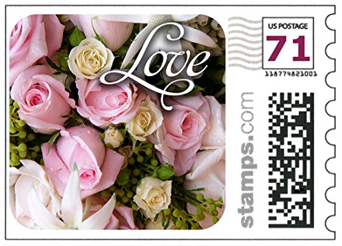 Rose Wedding Postage Stamp - USPS Love Wedding Roses Stamps - Two-ounce stamps Sheet of 20