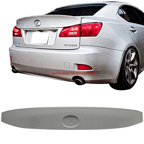 Pre-painted Trunk Spoiler Fits 2006-2013 Lexus IS250 IS350 ISF | IK Style ABS Painted #1G1 Tungsten Pearl Trunk Boot Lip Wing Deck Lid Other Color Available By IKON MOTORSPORTS | 2007 2008 2009 2012