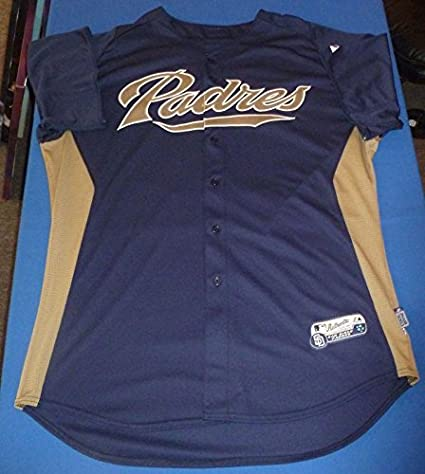 best sneakers 9e2d7 9e336 Cameron Maybin Signed Team Game Issued Padres Jersey COA ...
