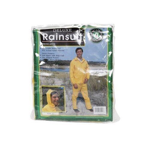 RAINSUIT PVC YELLOW LG by BOULDER CREEK MfrPartNo 62113CM ()