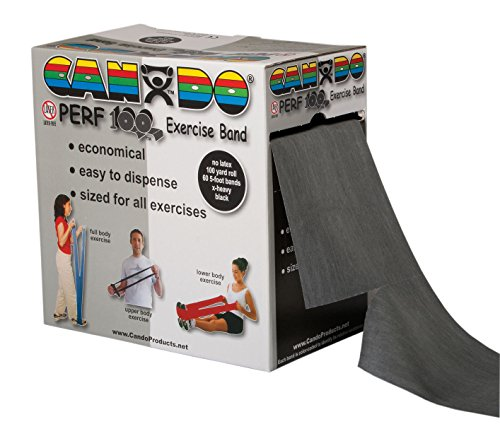 CanDo Perforated Exercise Band, Black by Cando