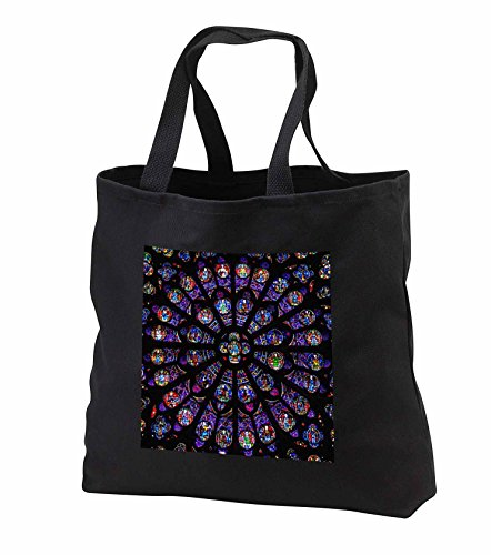 Price comparison product image 2 Travel - France - South Rose Window of Notre Dame Cathedral in Paris - Tote Bags - Black Tote Bag JUMBO 20w x 15h x 5d (tb_239228_3)