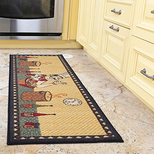 "Ottomanson siesta collection runner rug, 20""X59"", Beige Kitchen Chef"
