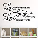 Rertcioph Live Every Moment,Laugh Every Day,Love