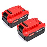 Energup 2pack 20V MAX 4.0AH Lithium Battery for Porter Cable PCC685L PCC680L Cordless Power Tools