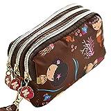 Gilroy Women Wallet Purse Triple Zipper Clutch Phone Bag Case Organizer - 6