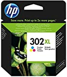 HP 302 XL Tricromia (F6U67AE) Cartuccia Originale per Stampanti HP a Getto di Inchiostro, Compatibile con Stampanti HP DeskJet 1110; 2130 e 3630; HP OfficeJet 3830 e 4650; HP ENVY 4520