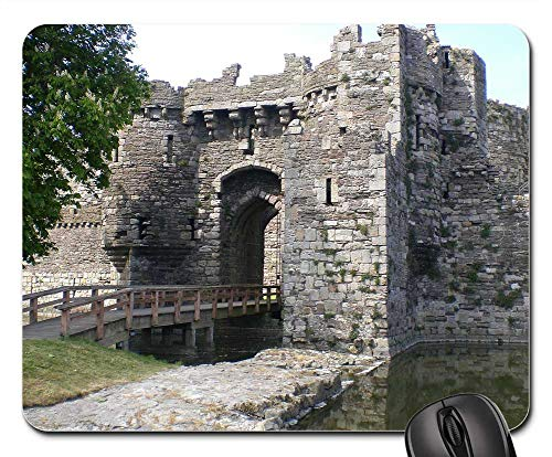 Wide Wale Plush - Mouse Pads - Beaumaris Castle Anglesey Wales United Kingdom