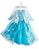 2014 Genuine Authentic Disney Official High Quanlity Frozen Arendelle Princess Anna/Elsa Costume for Girls (3T, ELSA)