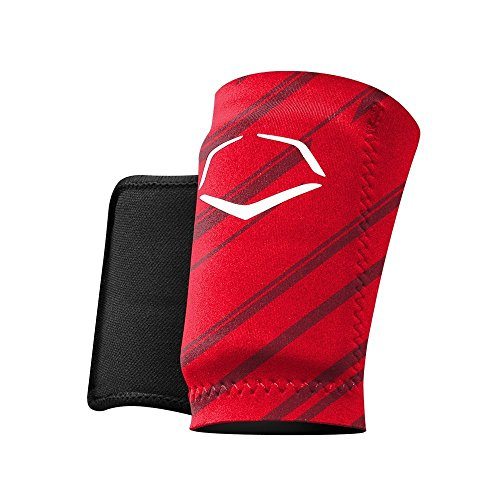 Red Wrist Guards - EvoShield MLB Protective Speed Stripe Wrist Guard, Red, Large