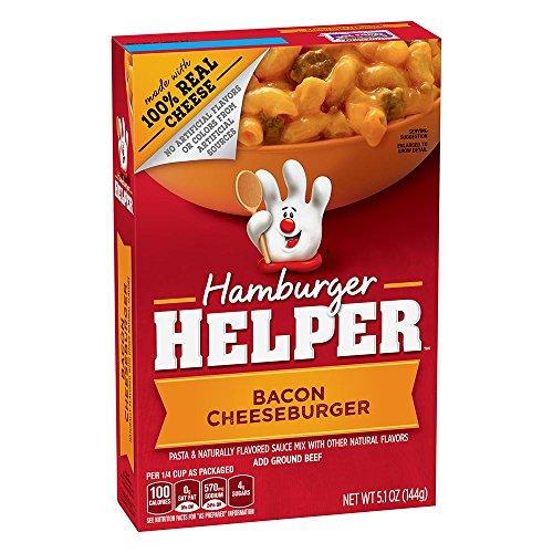 Betty Crocker Hamburger Helper Bacon Cheeseburger 5.1 oz Box (pack of (Betty Crocker Sauce)