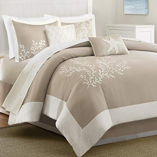 Bella Coastal Decor Sandy Reef Comforter Set - Queen ()