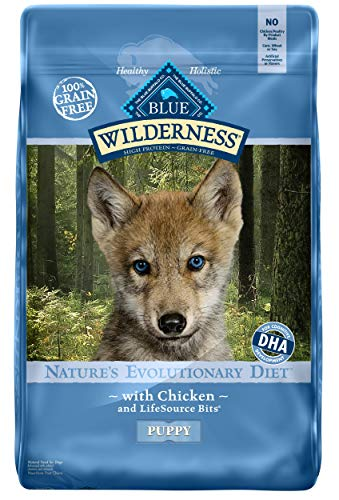Blue Buffalo Wilderness High Protein Grain Free, Natural Puppy Dry Dog Food, Chicken 11-lb (Blue Wet Food Puppy Buffalo)