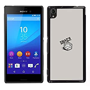 Rolling In A Cube - Metal de aluminio y de plástico duro Caja del teléfono - Negro - Sony Xperia M4 Aqua
