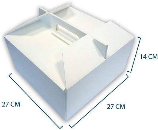 Unidades 10 Caja térmica cm 27 x 27 Alta cm 14 para Llevar de ...