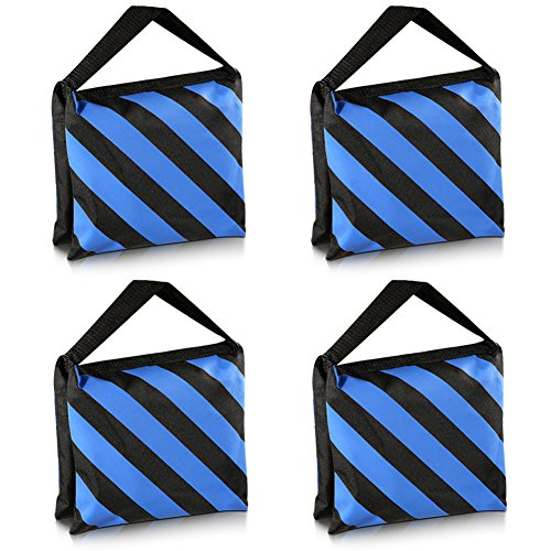 Truss Bag (Neewer Set of Four Black/Blue Heavy Duty Sand Bag Photography Studio Video Stage Film Sandbag Saddlebag for Light Stands Boom Arms Tripods)