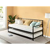 Zinus Newport Twin Daybed and Trundle Set/Premium Steel Slat Support/Daybed and Roll Out Trundle Accommodate Twin Size Mattresses Sold Separately