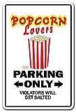 POPCORN LOVERS Sign movie night film theatre pop corn hot buttered | Indoor/Outdoor | 14'' Tall