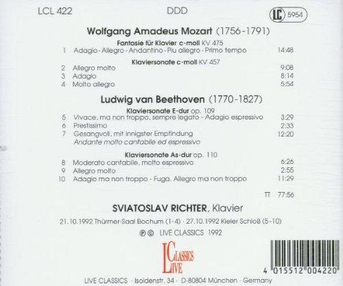 Mozart/Beethoven: Piano Sonatas