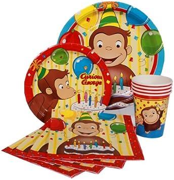 Jorge el curioso Party Pack for 8 - fiesta de cumpleaños infantil ...