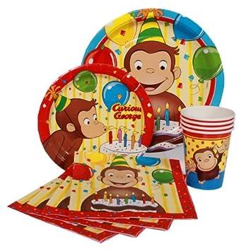 Jorge el curioso Party Pack for 8 - fiesta de cumpleaños ...