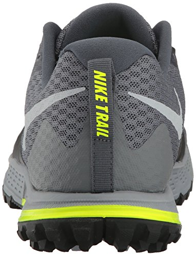 Nike Mens Air Zoom Wildhorse 4 Scarpa Da Trail Running - Grigio Scuro / Nero Grigio Scuro / Grigio Lupo / Nero / Invisibile