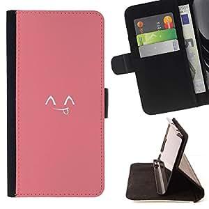 Momo Phone Case / Flip Funda de Cuero Case Cover - Émoticônes mignon japonais - Apple Iphone 6 PLUS 5.5