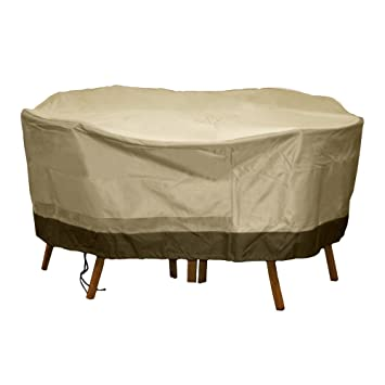 Patio Armor Deluxe Round Table And Chair Set Cover