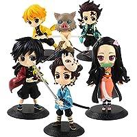 مجموعة 6 مجسمات انمي كيميتسو نو يايبا نيزوكو تانجيرو - Kimetsu No Yaiba 6 Figures Demon Slayer Anime Figure Tanjiro…