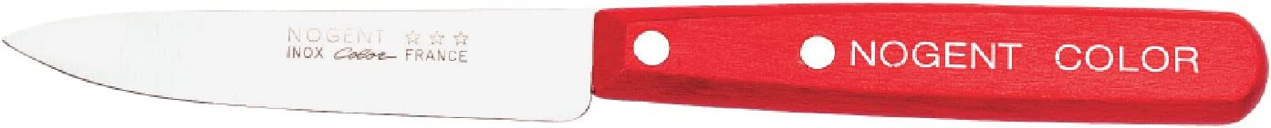 Nogent Couteau d/'Office Rouge 9 cm Lot de 4 FRANCE
