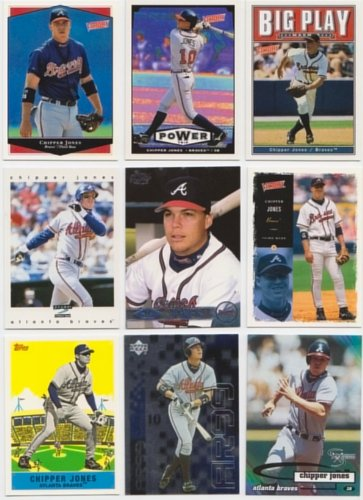 Chipper Jones / 50 Different Baseball Cards Featuring Chi...