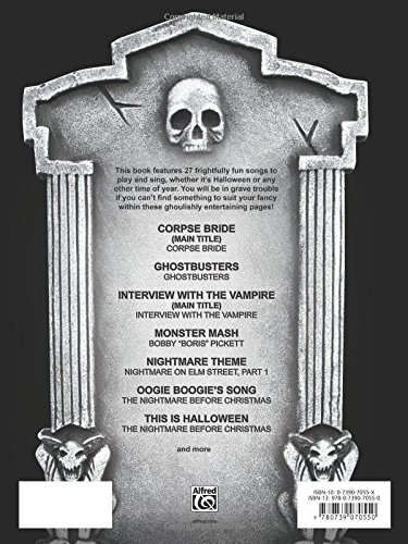 The Halloween SongBOOk: Piano/Vocal/Guitar & Piano Solos: Alfred ...
