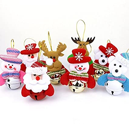 owiler christmas bells decorations for home 8 pcs set christmas tree ornaments snowman