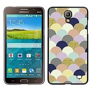 EJOY---Cubierta de la caja de protección para la piel dura ** Samsung Galaxy Mega 2 ** --Nubes Arte colorido de las burbujas de oro