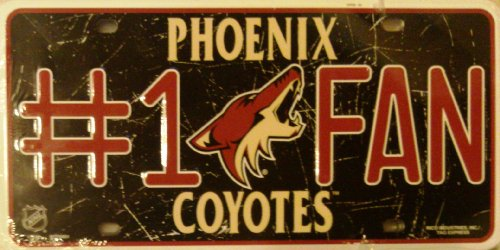 NHL Arizona Coyotes #1 Fan Metal License Plate Tag
