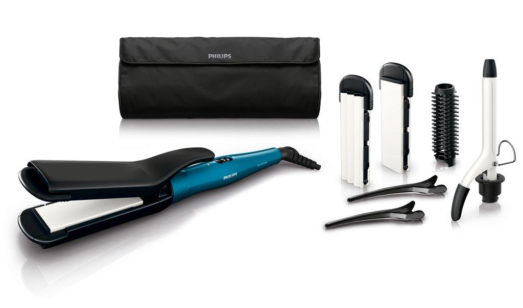 Philips HP8698/00 - Plancha multiestilo con placas cerámicas y 6 accesorios para modelar el cabello con estilo HP8698/00_-