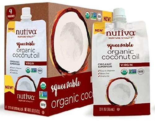 Nutiva Organic Unrefined Squeezable 12 ounce product image