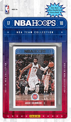 fan products of Detroit Pistons 2017 2018 Hoops Basketball NBA Licensed Factory Sealed 8 Card Team Set with Avery Bradley, Andre Drummond, Luke Kennard Rookie plus