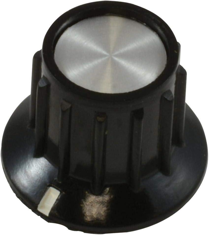 Round Shaft 3.175 mm Pack of 20 PKA50B1//8 Phenolic 20.2 mm PKA50B1//8 Knob Ribbed with Indicator Line