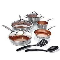 Simply Ming 10-piece Technolon Mega Cook Set - Platinum Silver
