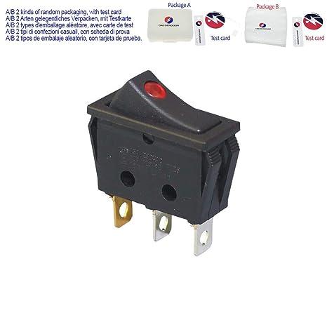 5 X 12V 20A AMP Red LED Light Rocker Toggle Switch SPST ON//OFF Car AB Sales