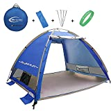 Cheap R ? HORSE Outdoors Large Pop Up Beach Tent Instant Easy Up Cabana Large 3-4 Person Anti UV Portable Automatic Sun Shelter For Sport Fishing