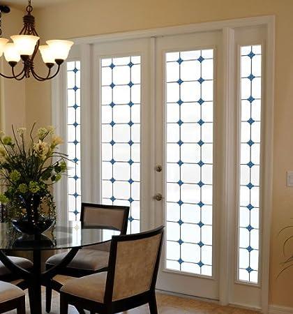 Amazoncom Monterey Bay Stained Glass Privacy Window Film 24 In X